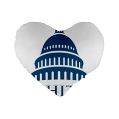Logo Of United States Architect Of The Capitol Standard 16  Premium Heart Shape Cushions by abbeyz71