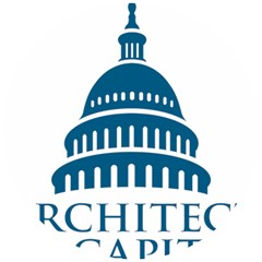 Logo Of United States Architect Of The Capitol Wooden Puzzle Round by abbeyz71