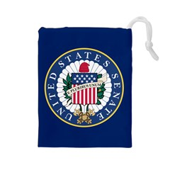 Flag Of The United States Senate Drawstring Pouch (large) by abbeyz71