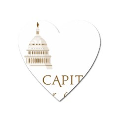 Logo Of U S  Capitol Visitor Center Heart Magnet by abbeyz71