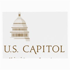 Logo Of U S  Capitol Visitor Center Large Glasses Cloth (2 Sides) by abbeyz71
