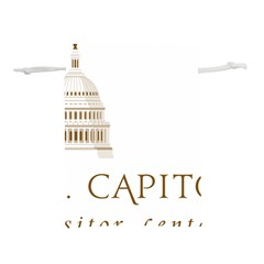 Logo Of U S  Capitol Visitor Center Lightweight Drawstring Pouch (l)