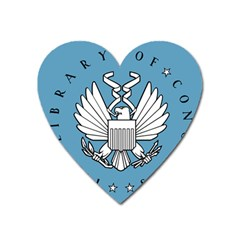 Flag Of Library Of Congress Heart Magnet by abbeyz71
