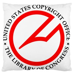 Logo & Seal Of United States Copyright Office, 1978-2003 Standard Flano Cushion Case (one Side)