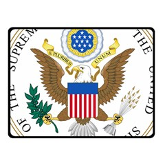 Seal Of Supreme Court Of United States Fleece Blanket (small)