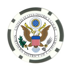 Seal Of United States District Court For Northern District Of California Poker Chip Card Guard