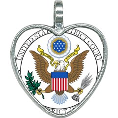 Seal Of United States District Court For Northern District Of California Heart Necklace by abbeyz71