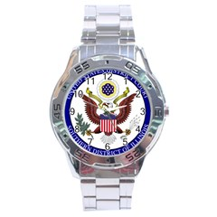 Seal Of United States District Court For Southern District Of Illinois Stainless Steel Analogue Watch by abbeyz71