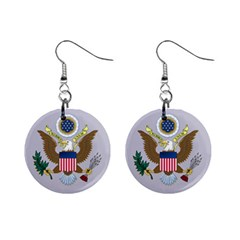 Seal Of United States District Court For Eastern District Of Missouri Mini Button Earrings