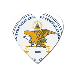 Seal Of United States Court Of Federal Claims Heart Magnet by abbeyz71