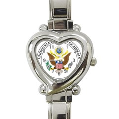 Seal Of United States Court Of Appeals For Third Circuit Heart Italian Charm Watch by abbeyz71