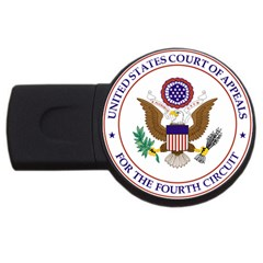 Seal Of United States Court Of Appeals For Fourth Circuit Usb Flash Drive Round (4 Gb) by abbeyz71