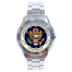 Seal Of United States Court Of Appeals For Fifth Circuit Stainless Steel Analogue Watch by abbeyz71