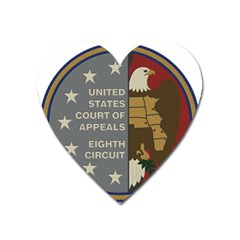 Seal Of United States Court Of Appeals For Eighth Circuit Heart Magnet by abbeyz71
