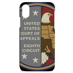 Seal Of United States Court Of Appeals For Eighth Circuit Iphone X/xs Black Uv Print Case by abbeyz71
