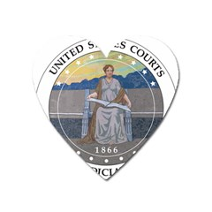Seal Of United States Court Of Appeals For Ninth Circuit  Heart Magnet by abbeyz71