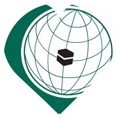 Flag Of The Organization Of Islamic Cooperation Wooden Puzzle Heart