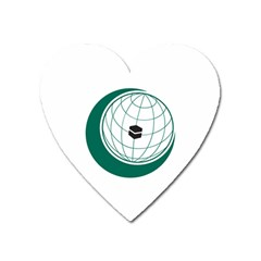 Flag Of The Organization Of Islamic Cooperation Heart Magnet by abbeyz71