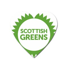 Logo Of Scottish Green Party Heart Magnet by abbeyz71