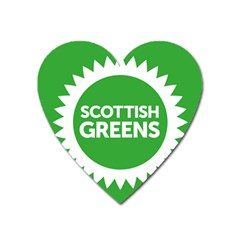 Flag Of Scottish Green Party Heart Magnet by abbeyz71