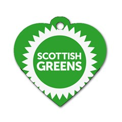 Flag Of Scottish Green Party Dog Tag Heart (one Side) by abbeyz71