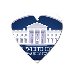 Logo Of The White House  Heart Magnet by abbeyz71