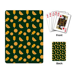 Ice Cream Pattern Background Design Playing Cards Single Design (rectangle) by Simbadda