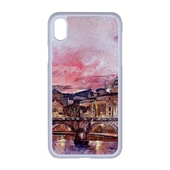 City Buildings Bridge Water River Iphone Xr Seamless Case (white) by Simbadda
