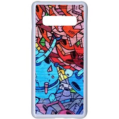 Graffiti Wall Mural Painting Arts Samsung Galaxy S10 Plus Seamless Case(white) by Simbadda