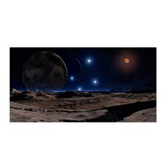 Lunar Landscape Star Brown Dwarf Satin Wrap by Simbadda