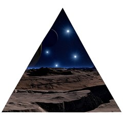 Lunar Landscape Star Brown Dwarf Wooden Puzzle Triangle