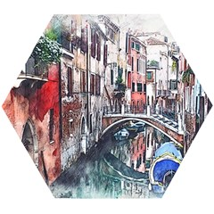 Venice Water Laguna Italy Wooden Puzzle Hexagon