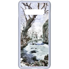 Tree Waterfall Landscape Nature Samsung Galaxy S10 Plus Seamless Case(white)