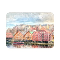 Architecture City Buildings River Double Sided Flano Blanket (mini)