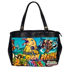 Graffiti Street Art Mountains Wall Oversize Office Handbag (2 Sides)