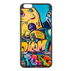 Graffiti Street Art Mountains Wall Iphone 6 Plus/6s Plus Black Enamel Case
