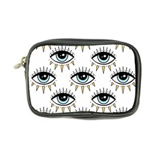 Eyes Pattern Coin Purse by Valentinaart