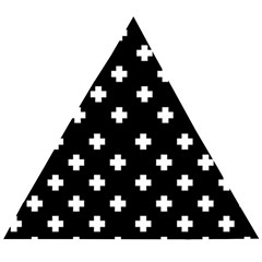 Swiss Cross Pattern Wooden Puzzle Triangle