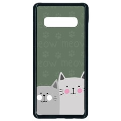 Cute Cats Samsung Galaxy S10 Plus Seamless Case (black)