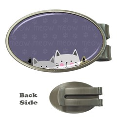 Cute Cats Money Clips (oval)  by Valentinaart