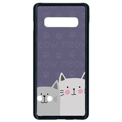 Cute Cats Samsung Galaxy S10 Plus Seamless Case (black) by Valentinaart