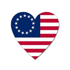 Betsy Ross Flag Heart Magnet by Valentinaart