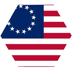 Betsy Ross Flag Wooden Puzzle Hexagon