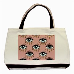 Eyes Pattern Basic Tote Bag