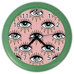 Eyes Pattern Color Wall Clock
