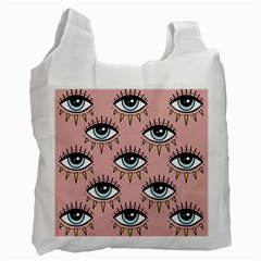 Eyes Pattern Recycle Bag (two Side)