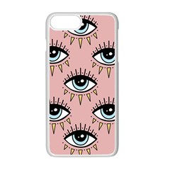 Eyes Pattern Iphone 7 Plus Seamless Case (white)