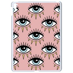 Eyes Pattern Apple Ipad Pro 9 7   White Seamless Case