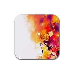 Autumn Paint Rubber Coaster (square)