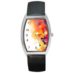 Autumn Paint Barrel Style Metal Watch